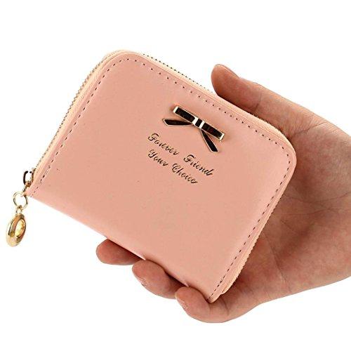 CRAVOG portafoglio piccolo per donna/ragazza borsetta a mano pelle portamonete carino