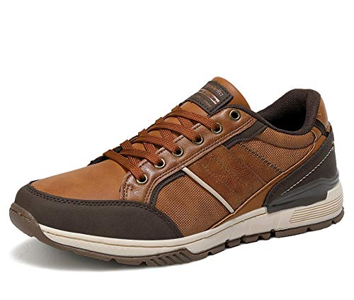 AX BOXING Zapatillas Hombres Deporte Running Sneakers Zapatos para Correr Gimnasio Deportivas Padel Transpirables Casual 40-46 (45 EU, marrón Claro)