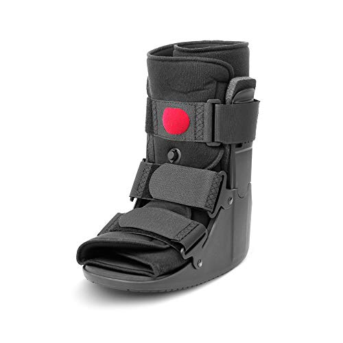 Low Top Air Walking Boot - Foot & Ankle Brace, Cam Walker for Fracture, Injury, Sprain, Swelling, Post-Surgery Healing - Inflatable Bladder, Soft Padding, Non-Slip Rocker Bottom (SM)