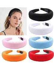 6PCS gevoerde hoofdbanden voor vrouwen 1.8inch brede dikke haarband haar hoepelbanden voor vrouwen meisjes