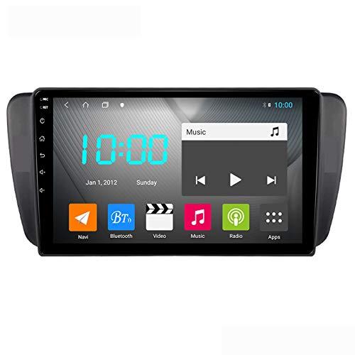 Android 10.0 Car Stereo Doppio Din per SEAT IBIZA 2009-2014 Navigazione GPS Unità principale da 9 pollici Touchscreen MP5 Lettore multimediale Ricevitore video radio con 4G WIFI DSP
