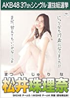 【松井珠理奈】ラブラドール・レトリバー AKB48 37thシングル選抜総選挙 劇場盤限定ポスター風生写真 AKB48チームKSKE48チームS2