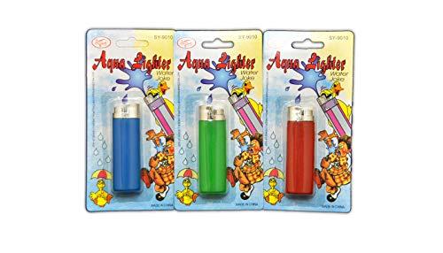 jameitop® 💦 3 X Spritz Feuerzeug - Scherzartikel - Zaubertrick 💦