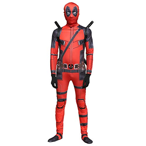 Hope Kinder Erwachsene Deadpool Cosplay Kostüme Anime Superheld Kostüme Masquerade Bodysuit Leistung Onesies Jumpsuits Halloween-Geburtstags-Geschenke,Bodysuit set-170(165~175cm)