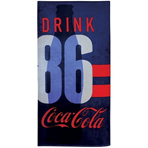 Coca-Cola Sport Badetuch, Baumwolle, blau, 75 x 150 cm