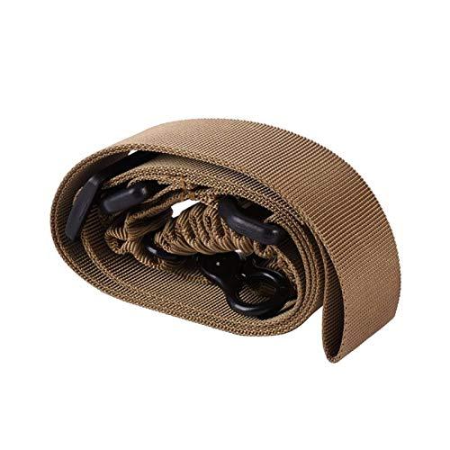 KTSM-Stop-T Duradero Nylon Gun Sling Ajustable Táctico Táctico Punto Punto Bungee Rifle Belts Pistola Airsoft Sling Caza Ejército Verde Verde Black Gun Strap Correa de Rifle (Color : Tan)