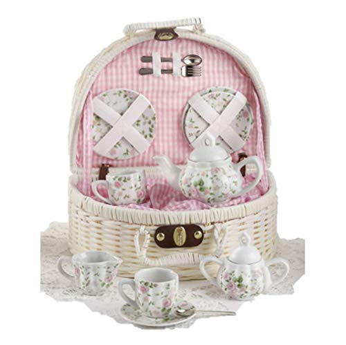 Delton Products Pink Chintz Children's Tea Set for Two