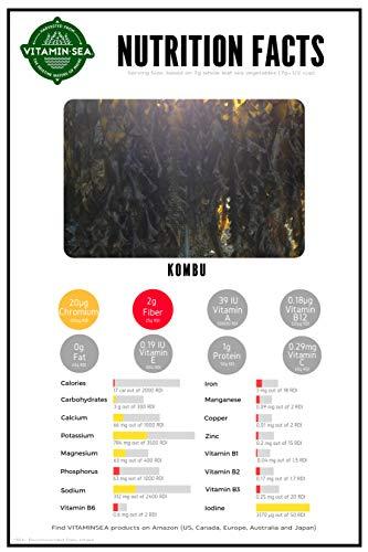 VITAMINSEA Organic Raw Kombu Flakes - 2 OZ - Atlantic Seaweed Vegan Certified (KF2)