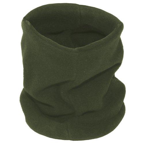 Rundschal, Fleece, oliv, mit Kopfteil