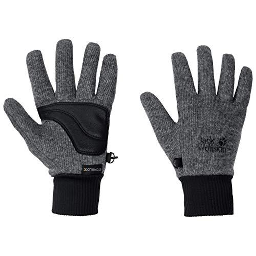 Jack Wolfskin Erwachsene Stormlock Knit Handschuhe Unisex, Phantom, L
