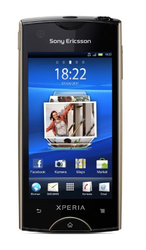 Sony Ericsson Xperia ray Smartphone (8,4 cm (3,3 Zoll) Bildschirm, Touchscreen, 8 megapixel Kamera, Android 2.3 OS) gold
