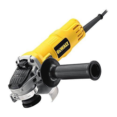 Dewalt DWE4156-QS DWE4156-QS-Mini-amoladora 115mm 900W 11.800 RPM Suave + Bloqueo y re-Arranque, 900 W, 0 V, Arándano