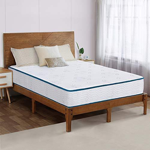Olee Sleep 9 Inch Skyline Tight Top Innerspring Hybrid Mattress, Gel Memory Foam, Mattress in a Box, CertiPUR-US Certified, Full (VC09SM02F-3)