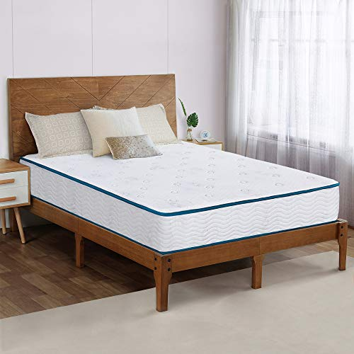 Olee Sleep 9 Inch Skyline Gel Memory Foam Pocketed Spring Mattress, Mattress in a Box, CertiPUR-US Certified, Queen