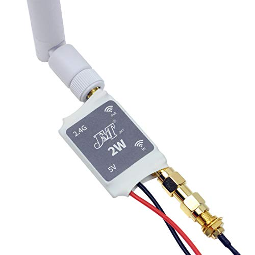 JMT 2.4G Radio Signal Amplifier Remote Control Signal Booster with 6DBi Antenna for RC Quadcopter Multicopter Drone