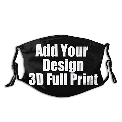 Unisex Custom Design 3d Print Adjustable Face Madks Bandanas For Dust, Outdoors, Festivals, Sports
