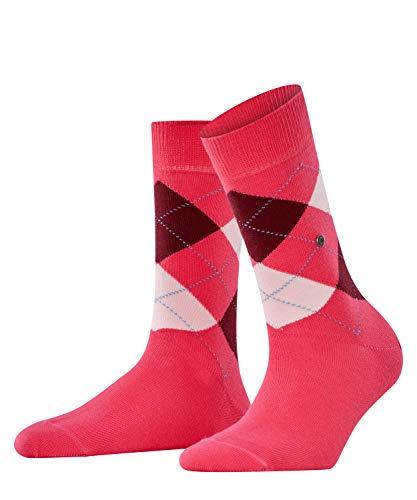 Burlington Damen Queen Socken, Blickdicht, rot (winterpink 8903), 36-41