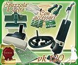 SET COMPLETO: ASPIRAPOLVERE FOLLETTO VK120 USATO + BATTITAPPETO + PULIZIE AEREE...