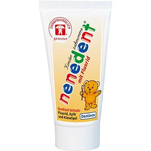 Nenedent Kinderzahncreme mit Fluorid, 12er Pack (12 x 50 ml) Dentinox Zahnpasta für Kinder