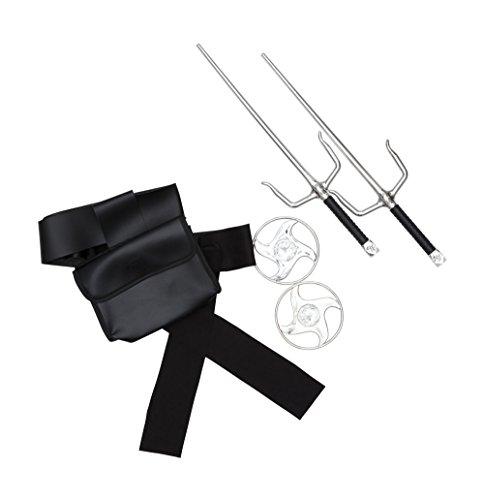 Bristol Novelty BA2134 Ninja riem en accessoires, heren, zwart/zilver, een maat
