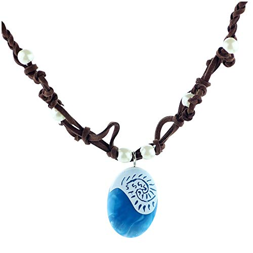 Collar Collares De Cadena De Cuerda Oceánica, Collares Y Colgantes De Piedra Azul, Gargantilla De Gamuza De Cuero, Collar Para Mujeres, Niñas, Joyería, Regalos