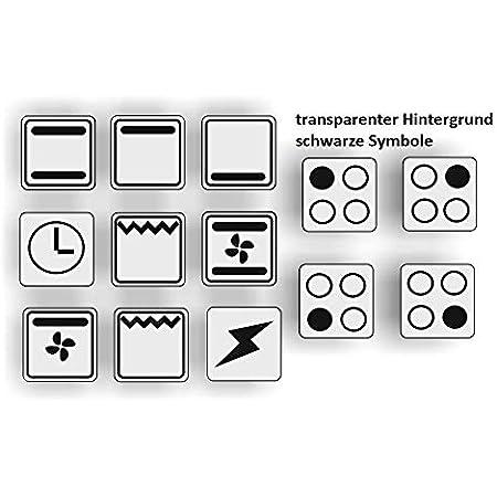 Generisch Schalter Aufkleber Schalter Beschriftung Glocke Klingel Licht Schlüssel Auf Zu 125 3 Silbergrau Glanz Auto