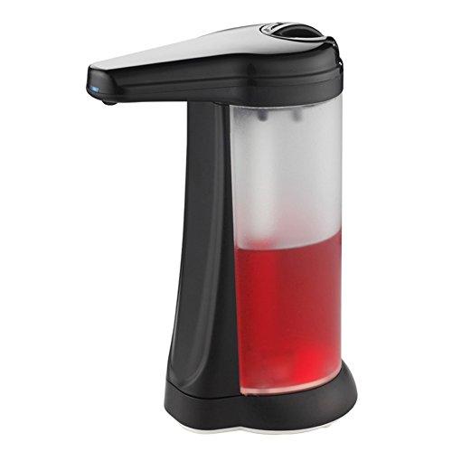 TY&WJ Haut de gamme Distributeur automatique de savon Sans contact Boîte de shampooing Bouteilles de lotion Détergent Bain Boîte à savon Plastique Ménage Hôtels Cuisine Salle de bains -450 ml-noir