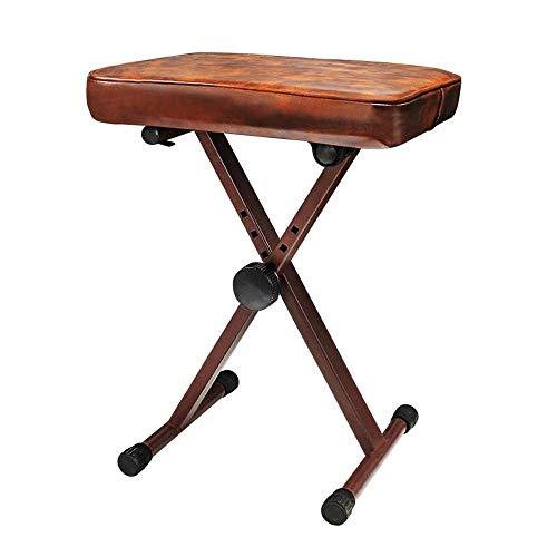 n.g. Tägliche Ausrüstung Universal 4-Fach Verstellbarer Musikinstrumentenstuhl Klavierbank 1-Person Guzheng Keyboard Gitarrenhocker Ideal für Keyboarder Pianisten