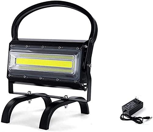 NYZXH Proyector recargable portátil 100W, LED Dimmable Super Bright Construction Spotlight con puerto USB, batería 13200mAh, IP65 Luz de trabajo a prueba de agua para el taller de camping Emergencia L