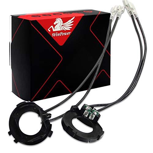 Win Power H7 LED Base d'ampoule Des clips Adaptateur Titulaire Retenue Soutien Conversion Accessoires pour Golf MK7 / Jetta, 2 pièces