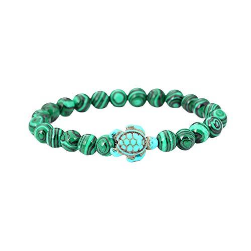Bracelets for Womens Turtle Turquoise Pendant Beaded Bracelet Beaded Bangle Personalised Romantic Valentine's Day Present Birthday Christmas Graduation Gifts(One Size,E)