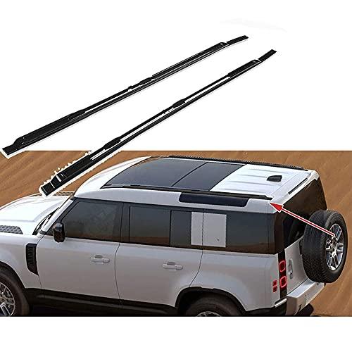 2 Piezas Aluminio Bacas Para VehíCulos Para Land Rover Defender 2020 2021, Barra De Techo Portaequipajes Para Coche AnticorrosióN Transversal Equipaje Carga Transporte Barra