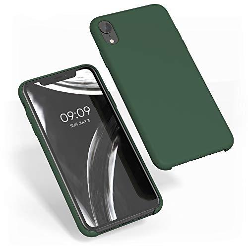 kwmobile Funda Compatible con Apple iPhone XR - Carcasa de TPU para móvil - Cover Trasero en Verde Oscuro