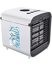 Nifogo luchtvervangingsfilter, koelerfilter, filtervervanging, mini-luchtkoeler Ventilator Luchtminikoeler Mobiele luchtkoeler, 3 snelheden instelbaar, 7 kleuren om te bouwen