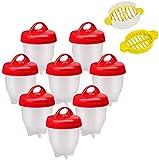 AOOPOO Bollitore per Uova Sode Senza Guscio, Fornello per Uova, Fornello per Uova Sode, Fornello per Uova da 8 Pezzi