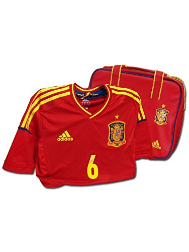 adidas - ESPAÑA 1ª Camiseta Techfit EDICION Especial PUYOL 5 EURO12 Hombre Color: Rojo Talla: L