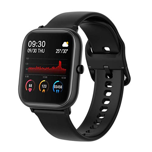 P8 Smart Watch, Fitness Tracker, New In 2021, Ip67 Waterproof, with Oxygen Saturation, Bluetooth Call, Children's Male and Female Pedometer,Removable Strap(Earl Black)