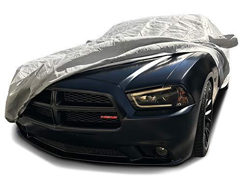 CarsCover Custom Fit 2006-2019 Dodge Charger Car Cover 5 Layer Ultrashield Gray Covers (SE, SXT, R/T, Daytona, SRT, Hellcat)