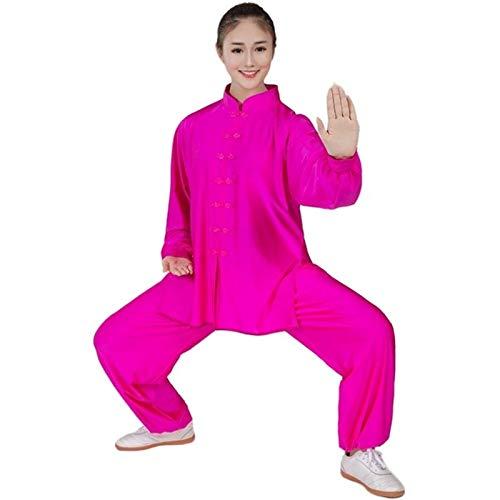 BAJIE Uniforme Unisexo Traje Atuendo Ropa Disfraz Engranaje Kung Fu Marcial Letras Wu Shu ala Chun Tai (Color : R, Size : XL)