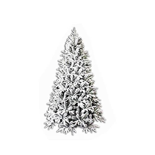 Mazzeo Giocattoli Albero di Natale 240 cm Carpino Bianco innevato Neve Artificiale e folto