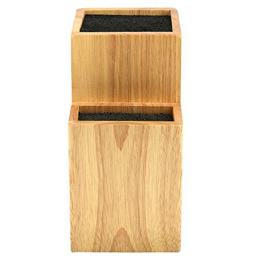 Mantello 2 Tier Universal Wood Knife Block Knife Holder Storage Organizer