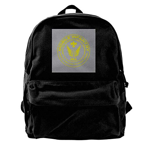 DJNGN Bag Mobile Infantry Starship Troopers Yellow Print Anime College Backpack School Bag School School Student Adult Durable T