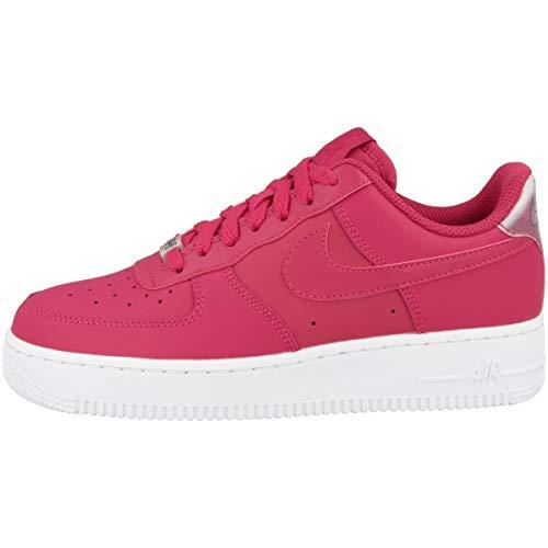 Nike WMNS AIR FORCE 1 '07 ESS, Scarpe da Basket Donna, Rosso Wild Cherry/Noble Red/White 601), 36.5 EU