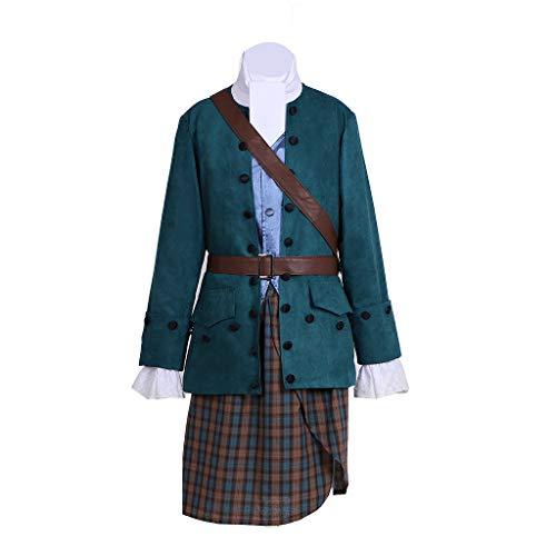 Fortunehouse Outlander Jamie Fraser - Disfraz medieval para hombre
