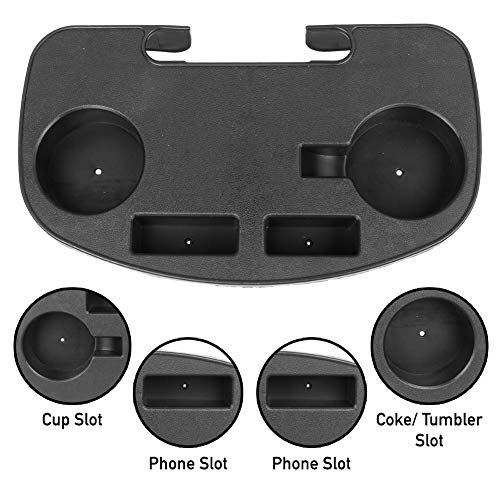 Zero Gravity Chair Table Tray Clip On Side Holder for Camping Beach Fishing Garden Pool Outdoor Activity with Snack Holder Mobile Device Slot for iPhone and 2 Cup Holders for Shallow Coffee Mug
