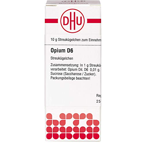 DHU Opium D6 Streukügelchen, 10 g Globuli