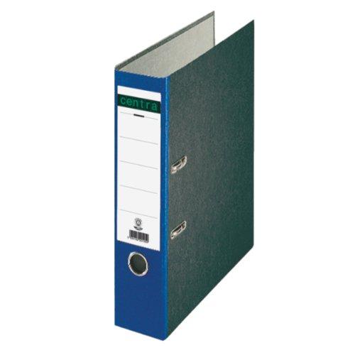 Centra 220122 Standard-Ordner (grauappe RC, mit Wolkenmarmor-Papier-Kaschierung, A4, 8 cm Rückenbreite) blau