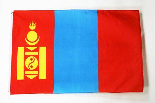 AZ FLAG Flagge MONGOLEI 150x90cm - MONGOLISCHE Fahne 90 x 150 cm - flaggen Top Qualität