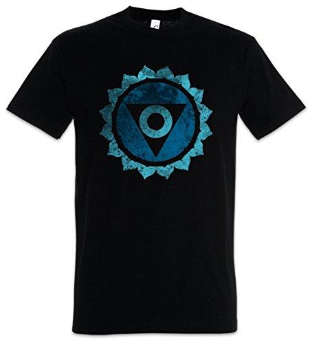 Urban Backwoods Chakra Vishuddha Camiseta De Hombre T-Shirt Negro Talla L