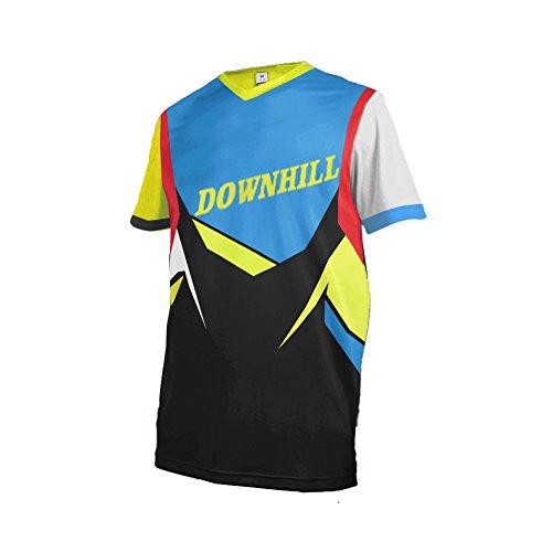 Uglyfrog 2018 Downhill Trikot Kurze Ärmel Herren Mountainbike Freeride BMX Fahrradtrikot Motocross MTB/Downhill Bekleidung Z04